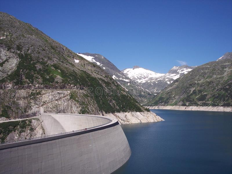 Wonderfull mountain countryside with the large dam in Austria in July stock image