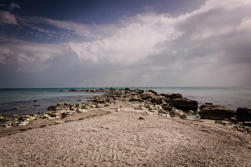 Wonderfull-Strand in Balchik Bulgarien lizenzfreie stockfotos