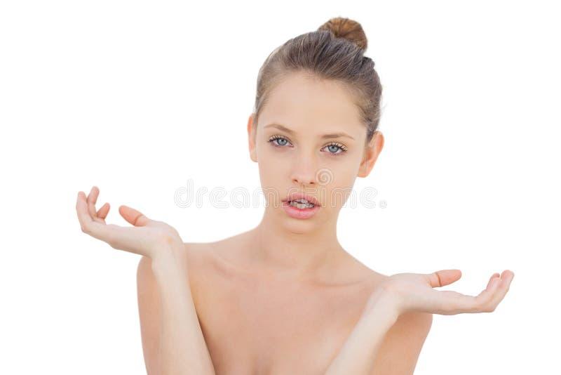 Download Wondering Brunette Model Posing Looking At Camera Stock Image - Image of 19, beauty: 33763533