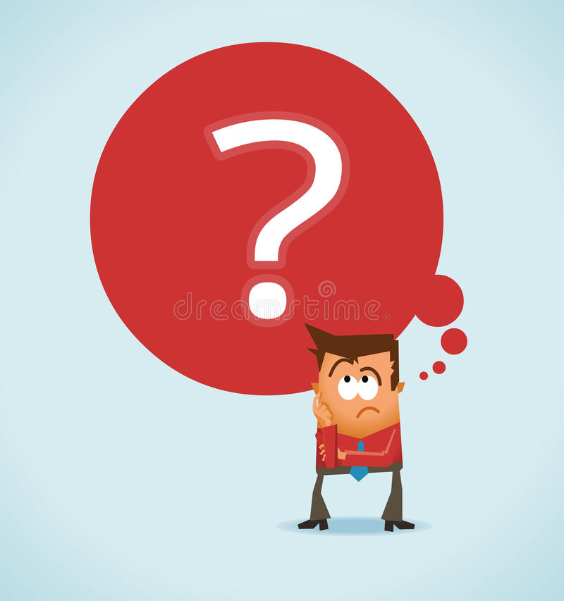 Download Wondering and uncertainty stock illustration. Image of think - 25250452