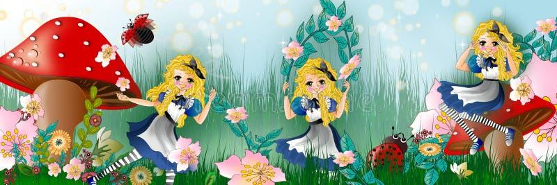 wonderland illustrazione di stock