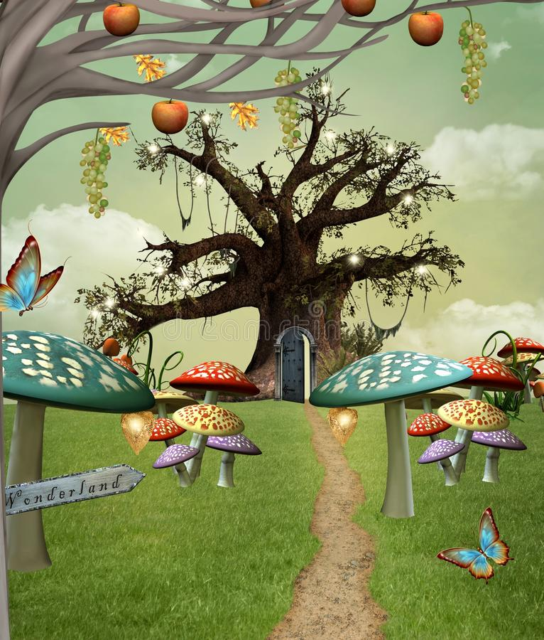 Free Wonderland Footpath Royalty Free Stock Image - 31848356
