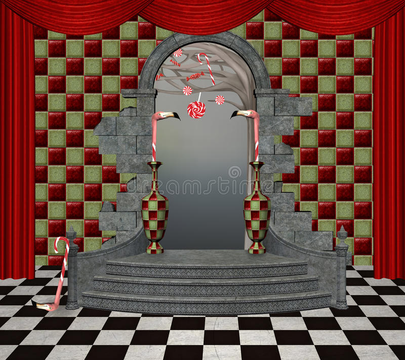 Wonderland hall royalty free illustration