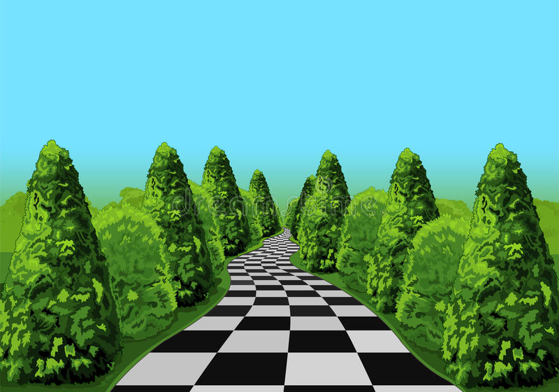 Wonderland Road stock illustration