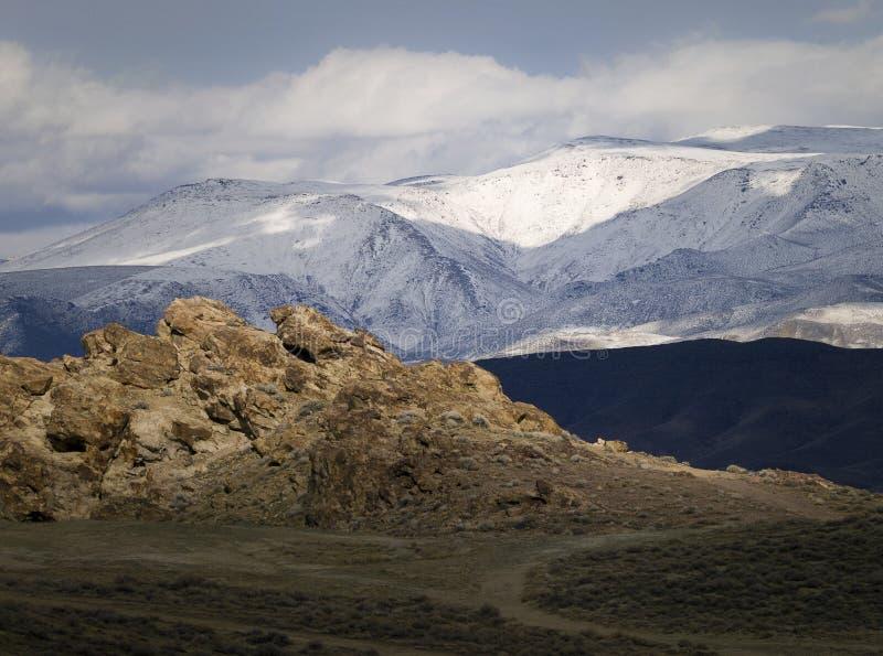 Wonderstone Berg in der Nevada-Wüste stockbilder