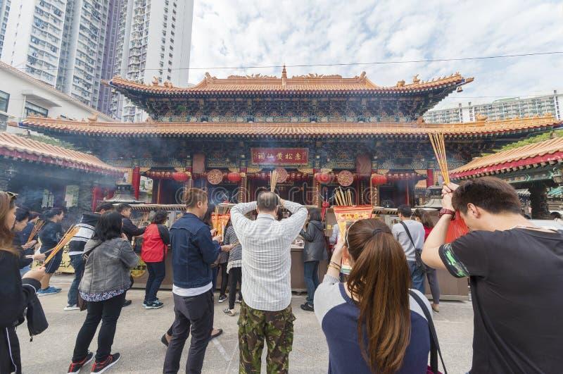 Wong Tai Sünden-Tempel in Hong Kong stockfotografie