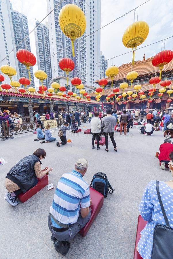 Wong Tai Sin Temple dans Kowloon en Hong Kong, Chine images libres de droits