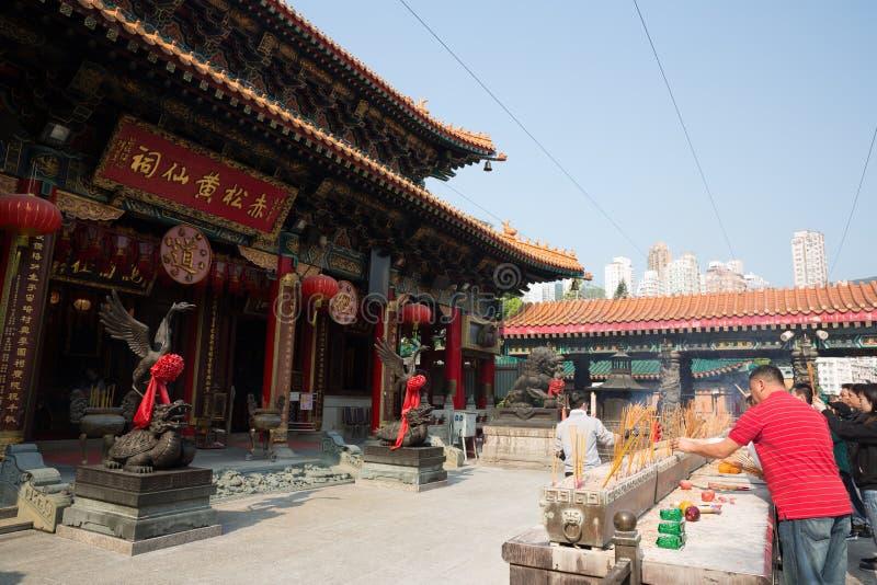 Wong Tai Sin Temple dans Kowloon, Hong Kong images stock
