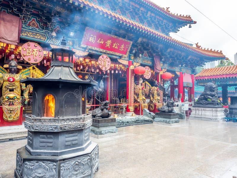 Wong Tai Sin Temple-Hauptpavillon, Hong Kong lizenzfreie stockbilder