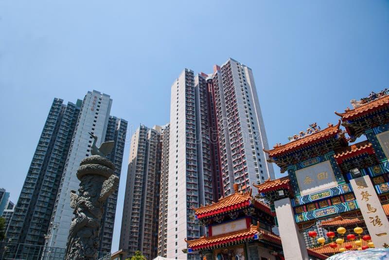 Wong Tai Sin Temple nel gruppo di Kowloon di sotto fotografie stock libere da diritti