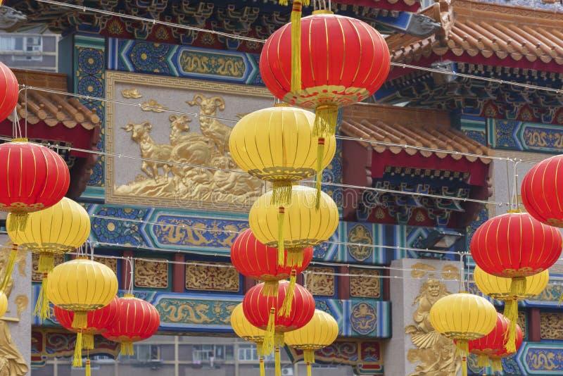 Wong Tai Sin Temple nella città di Hong Kong, Cina fotografie stock