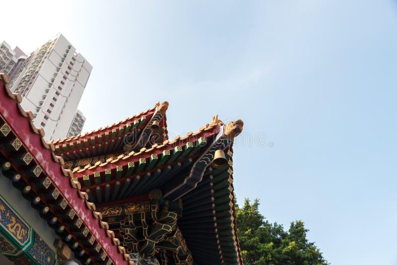 Wong Tai Sin Temple también llamó el templo de Sik Sik Yuen Chinese en Hong Kong fotografía de archivo libre de regalías
