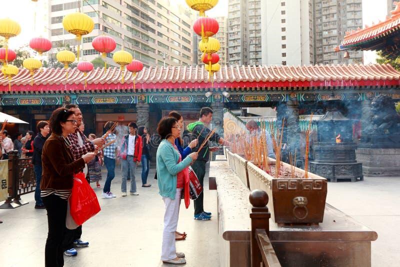 Wongtai zondetempel Hongkong stock foto