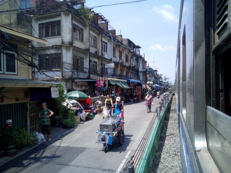 Wongwian Yai stacja kolejowa obraz royalty free
