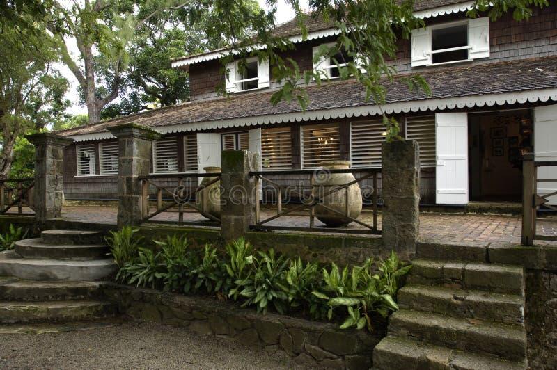 Woning Mild in Martinique royalty-vrije stock afbeelding