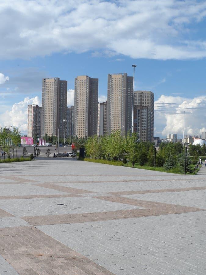 Woningbouw in Astana royalty-vrije stock afbeelding
