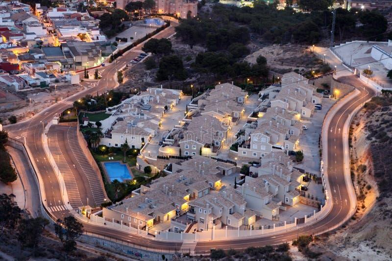 Woningbouw in Cartagena, Spanje royalty-vrije stock foto's