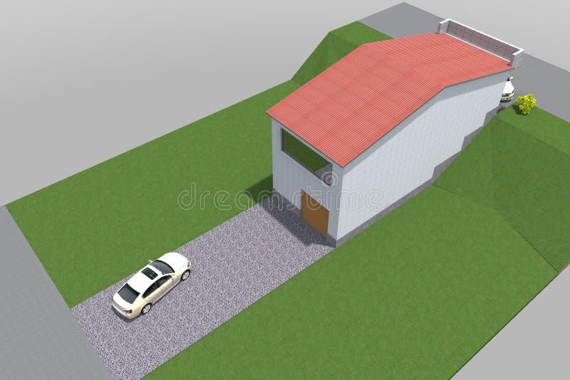 Woningbouw 3D ontwerp royalty-vrije stock afbeeldingen