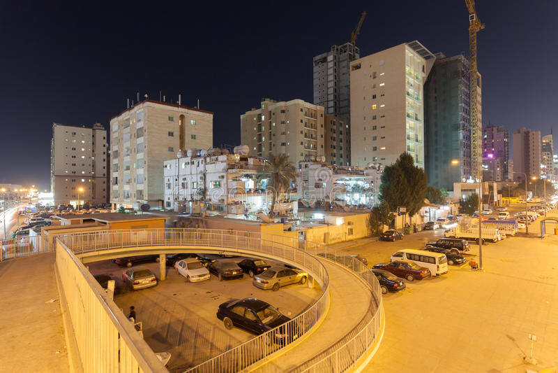 Woningbouw in de stad van Koeweit royalty-vrije stock afbeelding