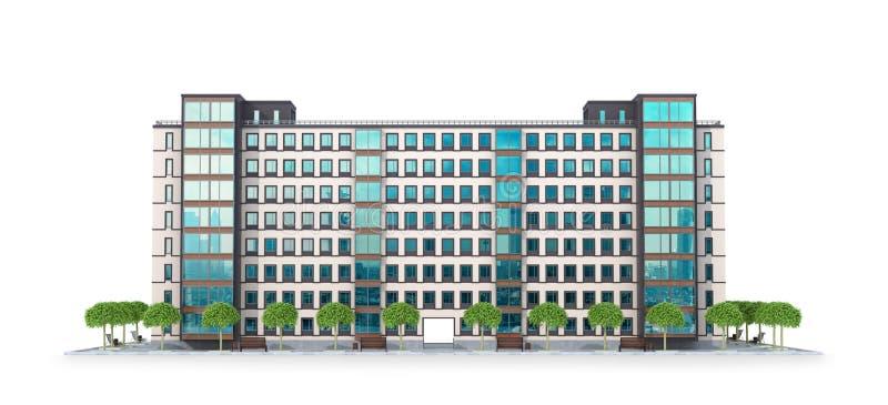 Woningbouw en van de stadsbouw concept royalty-vrije illustratie