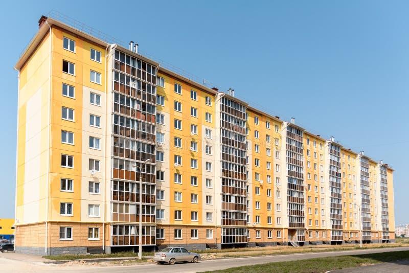 Woningbouw met meerdere verdiepingen royalty-vrije stock afbeeldingen