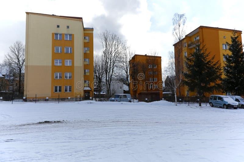 Woningbouw van een woonwijk stock fotografie