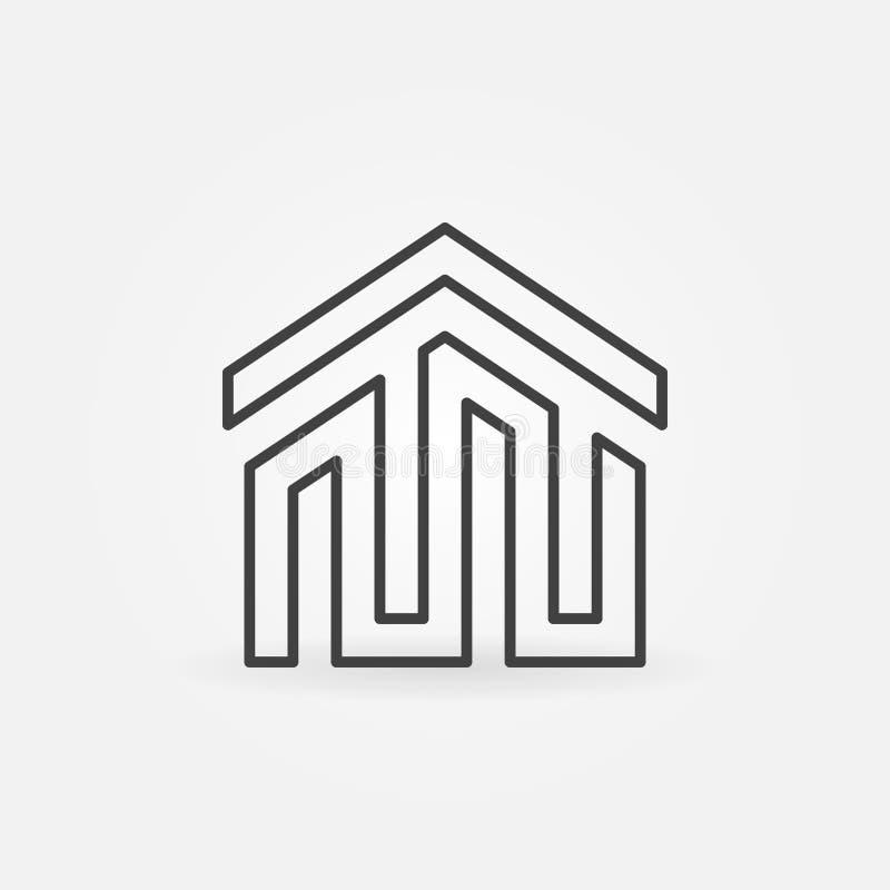 Woningbouwpictogram of embleem royalty-vrije illustratie