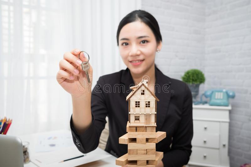 Woningcorporatie goed groepswerk stock foto's