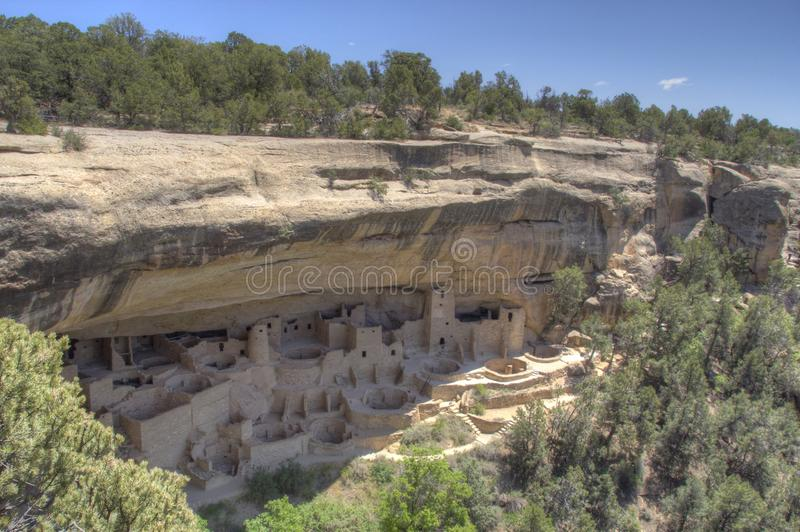 Woningen in Mesa Verde National Park in Colorado stock foto