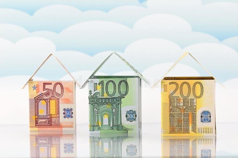 Woningmarkt, een bloeiende toekomst stock foto