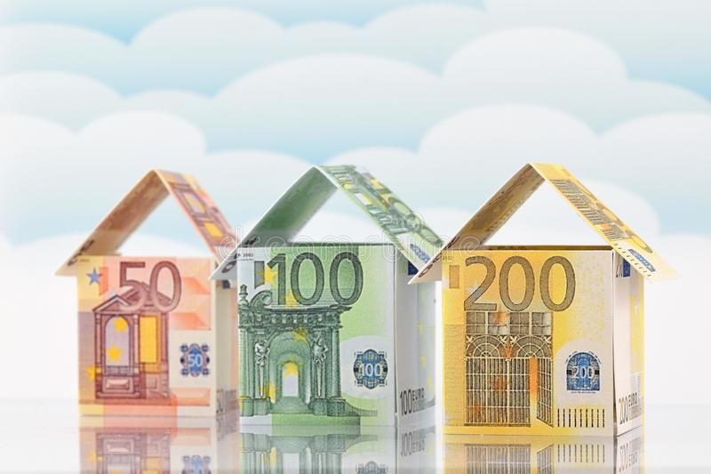 Woningmarkt, een bloeiende toekomst stock afbeelding