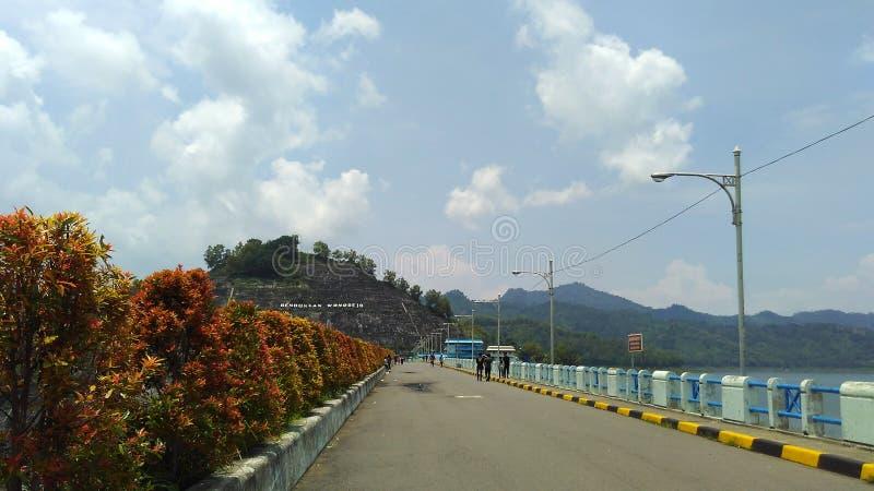 Wonorejo-Reservoir Tulungagung Osttimor stockbild