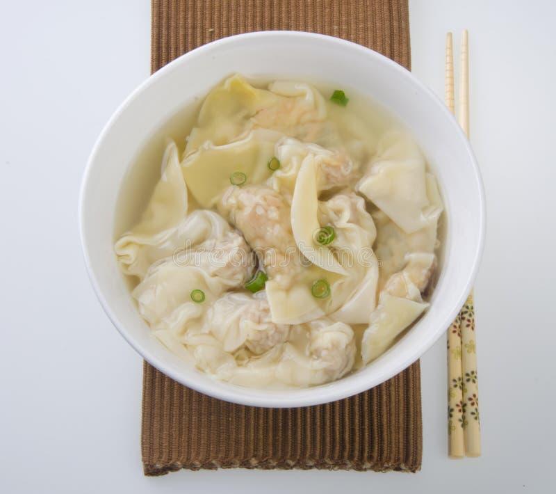 wonton супа стоковое фото