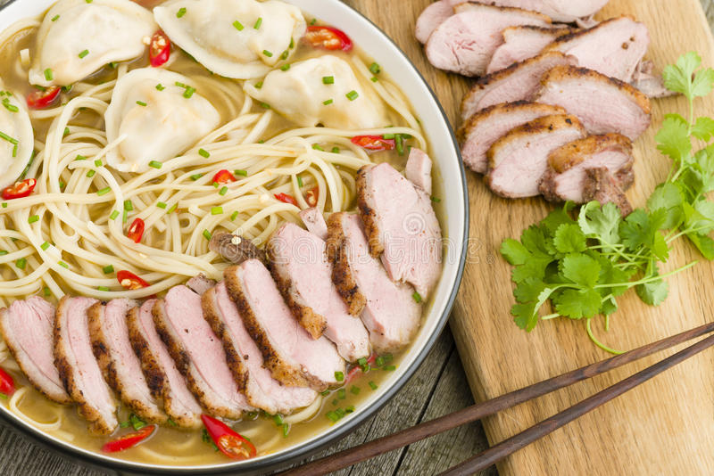 Download Wonton And Duck Noodle Soup Stock Photo - Image: 37115278