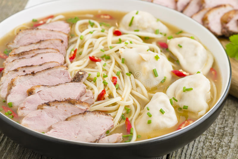 Download Wonton And Duck Noodle Soup Stock Image - Image: 37115665