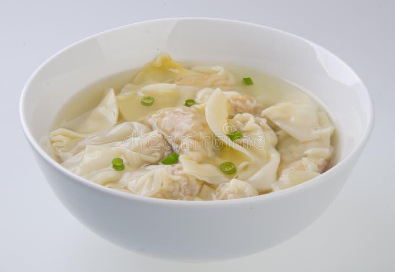 Wonton-Suppe lizenzfreies stockfoto