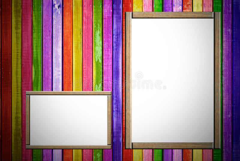 Wood Advertisement Royalty Free Stock Images