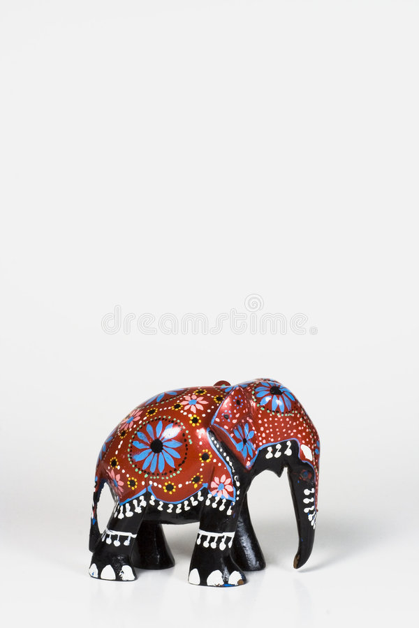 Free Wood African Elephant - Small Royalty Free Stock Photography - 470477