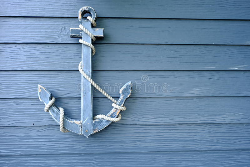 wood anchor royalty free stock images