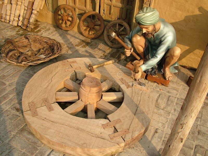 wood arbetare royaltyfri foto