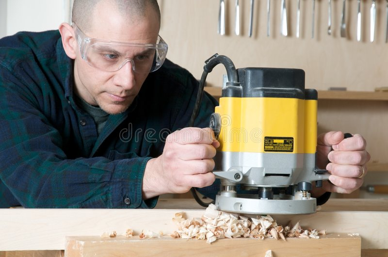 wood arbetare royaltyfria foton
