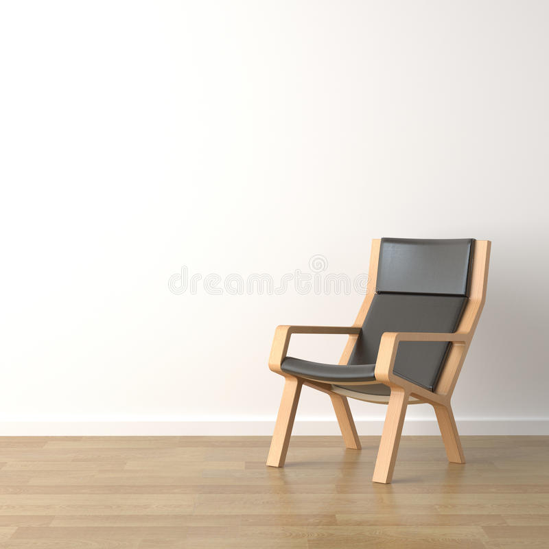 Download Wood armchair on white stock illustration. Image of vibrant - 10820156