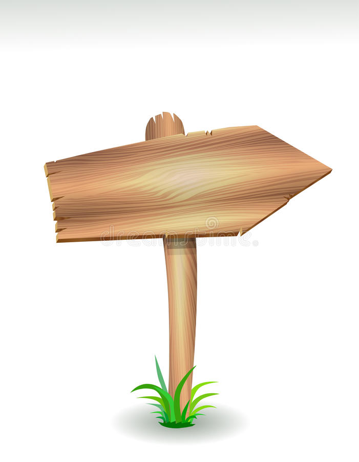 Wood arrow stock illustration