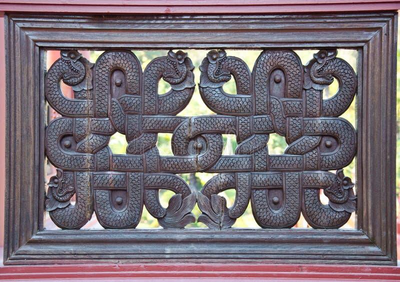 Wood art thai style stock images