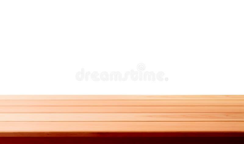 Wood bästa för tabell som isoleras på vit bakgrund - kan användas för skärm eller montage dina produkter royaltyfria foton