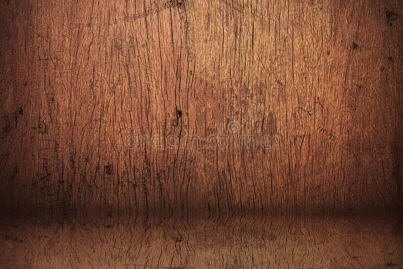 Wood backdrops background. Blank vintage studio made from wooden shelf. Wooden textured stock image