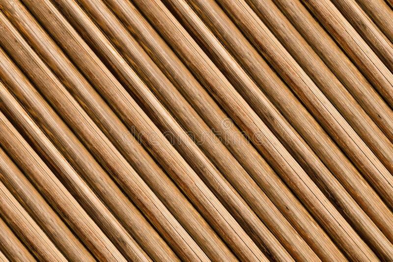 Wood background base sloping logs thin parallel wood pine pattern light brown ridge base rustic royalty free stock image