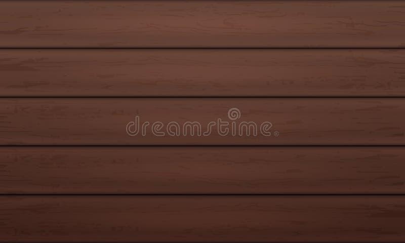 Wood bakgrund Trätexturerad bakgrundsdesign Mörk wood orientering vektor illustrationer