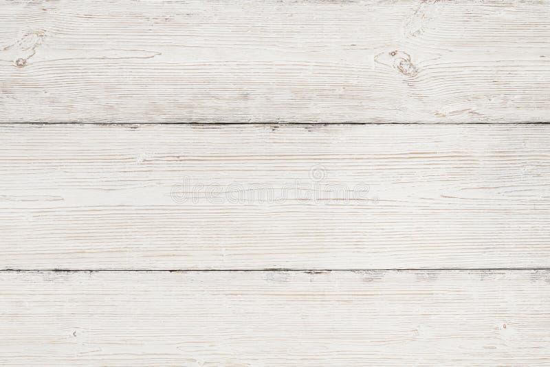 Wood bakgrund, vit träkorntextur, plankatabell royaltyfria bilder