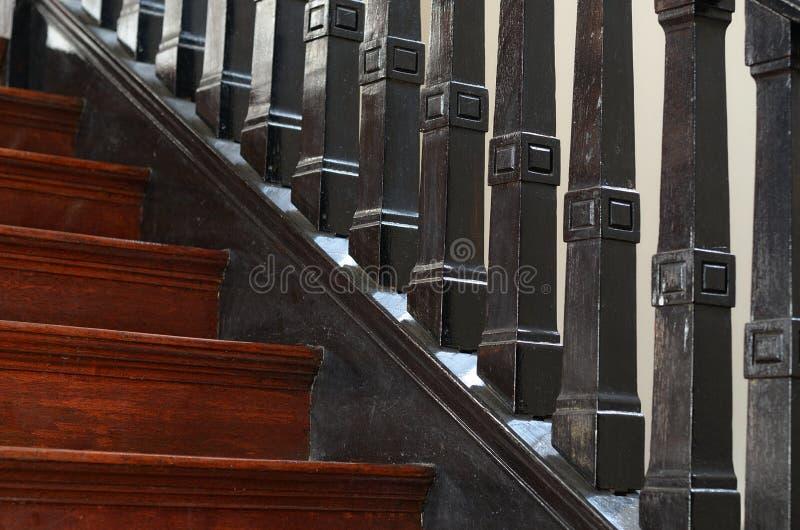Wood balustrade royalty free stock images